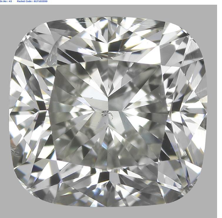1.02 Carat Cushion Cut Loose Diamond SI2 Clarity I Color Good Cut