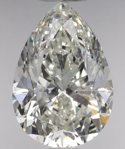 1.51 Carat Pear Cut Loose Diamond SI1 Clarity I Color Good Cut