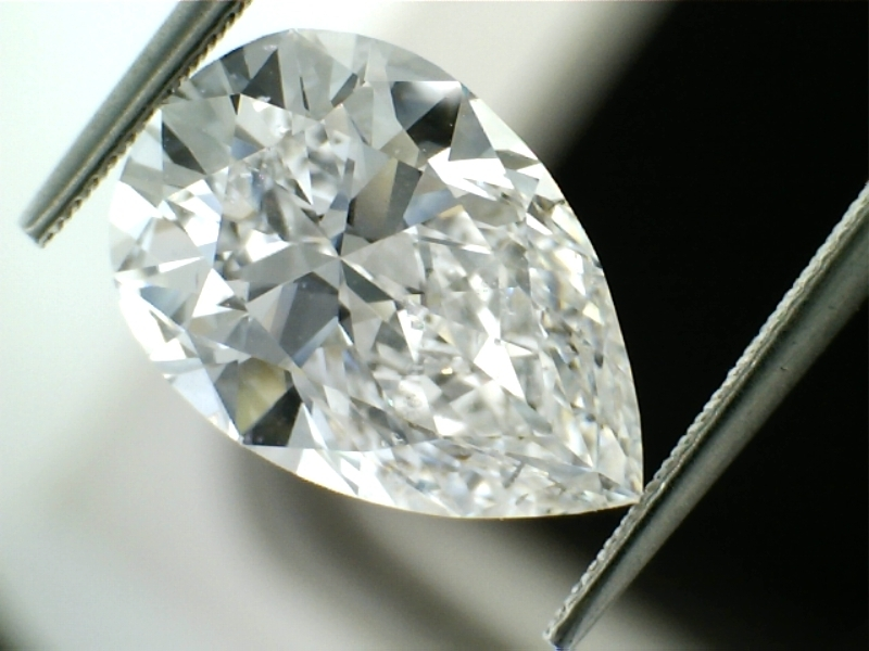 3.23 Carat Pear Cut Loose Diamond SI2 Clarity D Color Excellent Cut